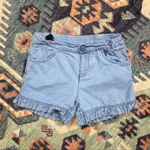 Ruffle Butts girls kids 6 blue jean shorts